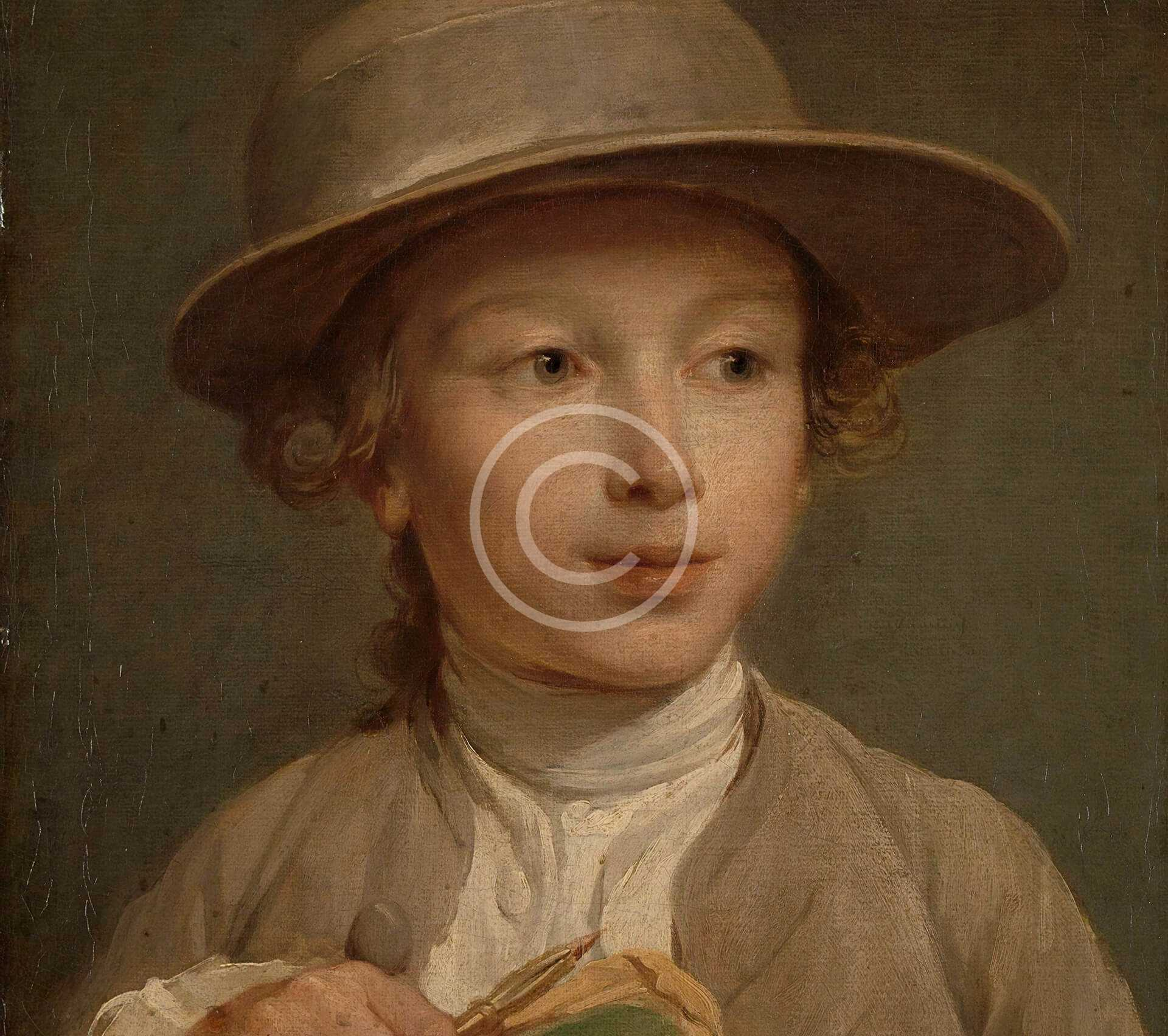 Portrait of a Young Boy in a Hat