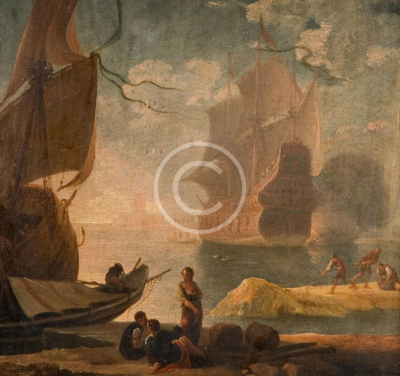 Coastal Scene with the Embarkation